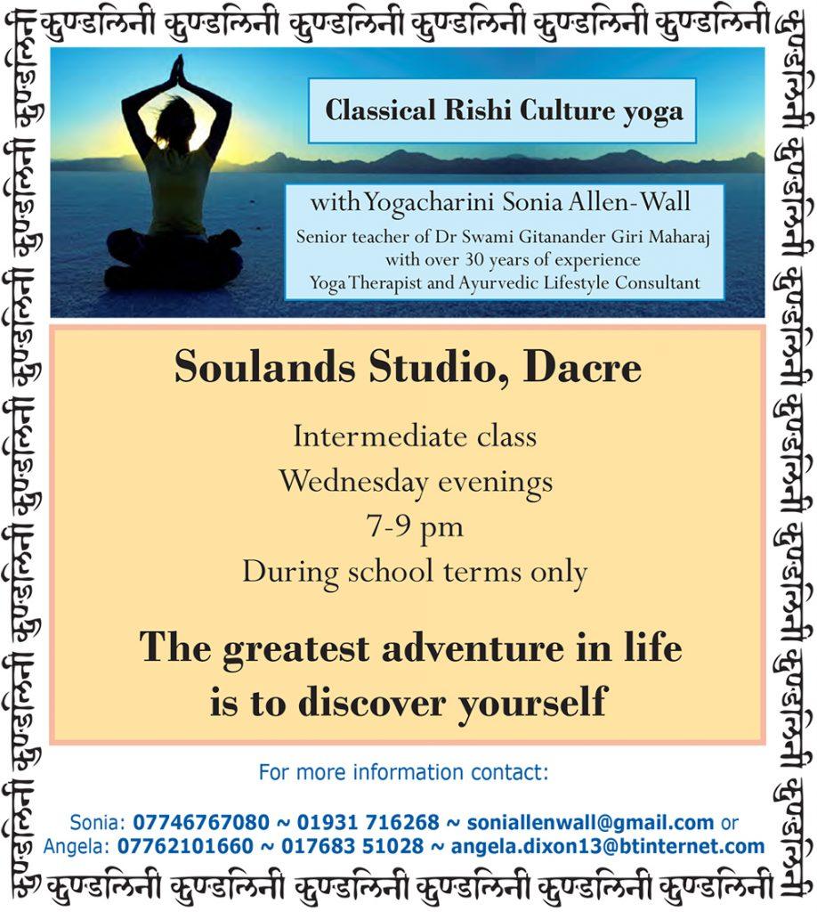 Classical Rishi Culture Yoga with Sonia Allen-Wall
